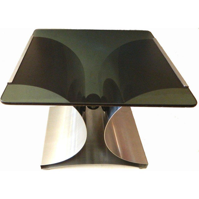 Mid-Century Modern 1970s Mid-Century Modern Francois Monnet Green Glass Side Table For Sale - Image 3 of 7