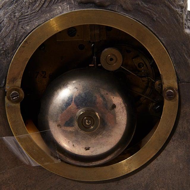 Rococo Bronze Mantel Clock, 1900's For Sale In Greensboro - Image 6 of 7