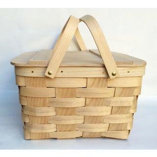 Vintage Woven Ash Picnic Basket Preview