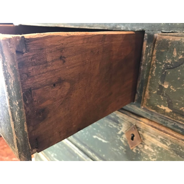 Wood French 18th-c. Commode w/ Original Paint For Sale - Image 7 of 10