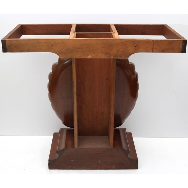 Shell Motif Mahogany Console Table by Edward Wormley for Dunbar Furniture For Sale - Image 9 of 10