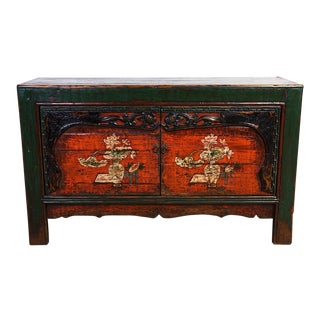 Chinese Antique Mongolia Cabinet/Buffet Table Sideboard For Sale