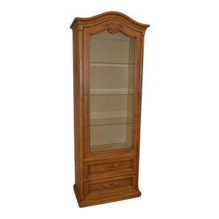 1970s Vintage Henredon French Country Style Display Cabinet For Sale