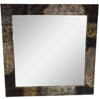 Paul Evans Copper, Brass and Pewter Wall Mirror For Sale