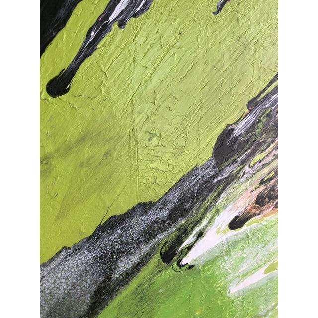 """Abstract Contemporary Abstract Painting """"Lip Balm"""" by Misty Wilson For Sale - Image 3 of 6"""