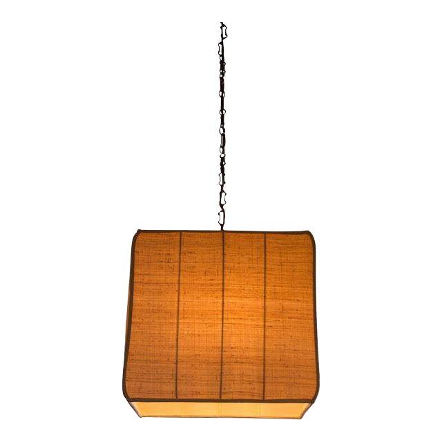 Paul Marra Asian-Inspired Four Light Shaded Pendant For Sale