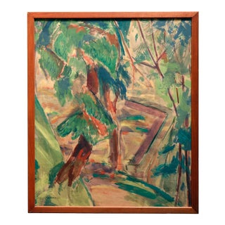 Circa 1915 Landscape With Trees by Alfred Henry Maurer, Gouache on Paper For Sale