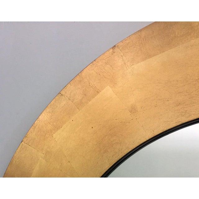 Round Gold Leaf Framed Mirror - Image 5 of 5