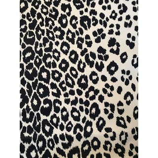 Contemporary Schumacher Iconic Leopard Linen Fabric - 4 Yards For Sale