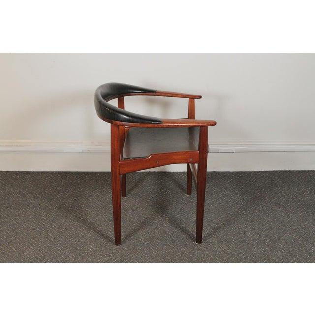 "Arne Houmand-Olsen for Jutex, DK. c'57 (Teak + Original Leather) Dimensions: 27"" w x 22"" d x 28"" h x 17.5 Seat"