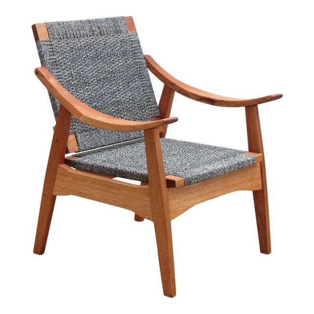 Handwoven Granito and Royal Mahogany Izapa Arm Chair - Image 1 of 6