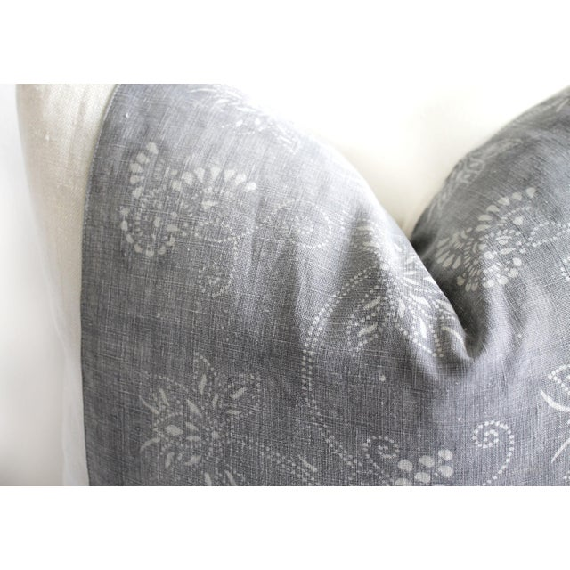 Vintage Tribal Gray and Natural Textile Pillow SKU Number: 5292-0141C Description: This beautiful pillow features a...