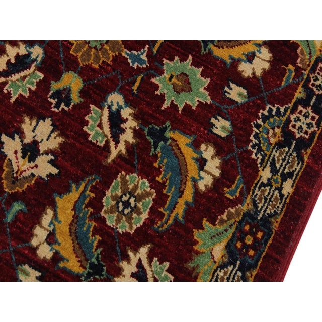 2000 - 2009 Ewa Red Hand-Knotted Wool Rug - 2'7 X 9'7 For Sale - Image 5 of 8