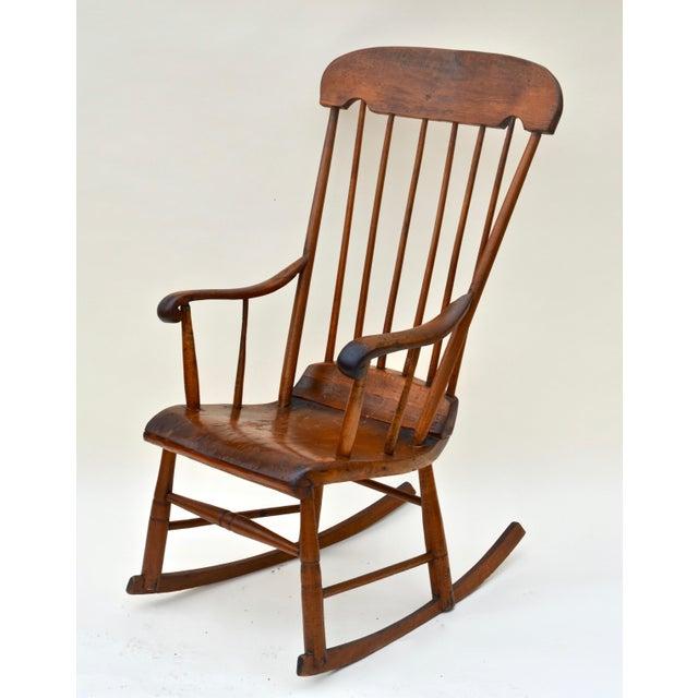 Antique Primitive Boston Rocking Chair C.1840s For Sale - Image 11 of 11