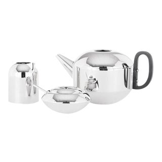 Tom Dixon Stainless Steel Tea Set - 4 Piece Set For Sale