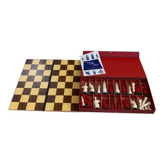 1947 Kingsway Florentine Royal Game of Chess - 32 Piece Set For Sale