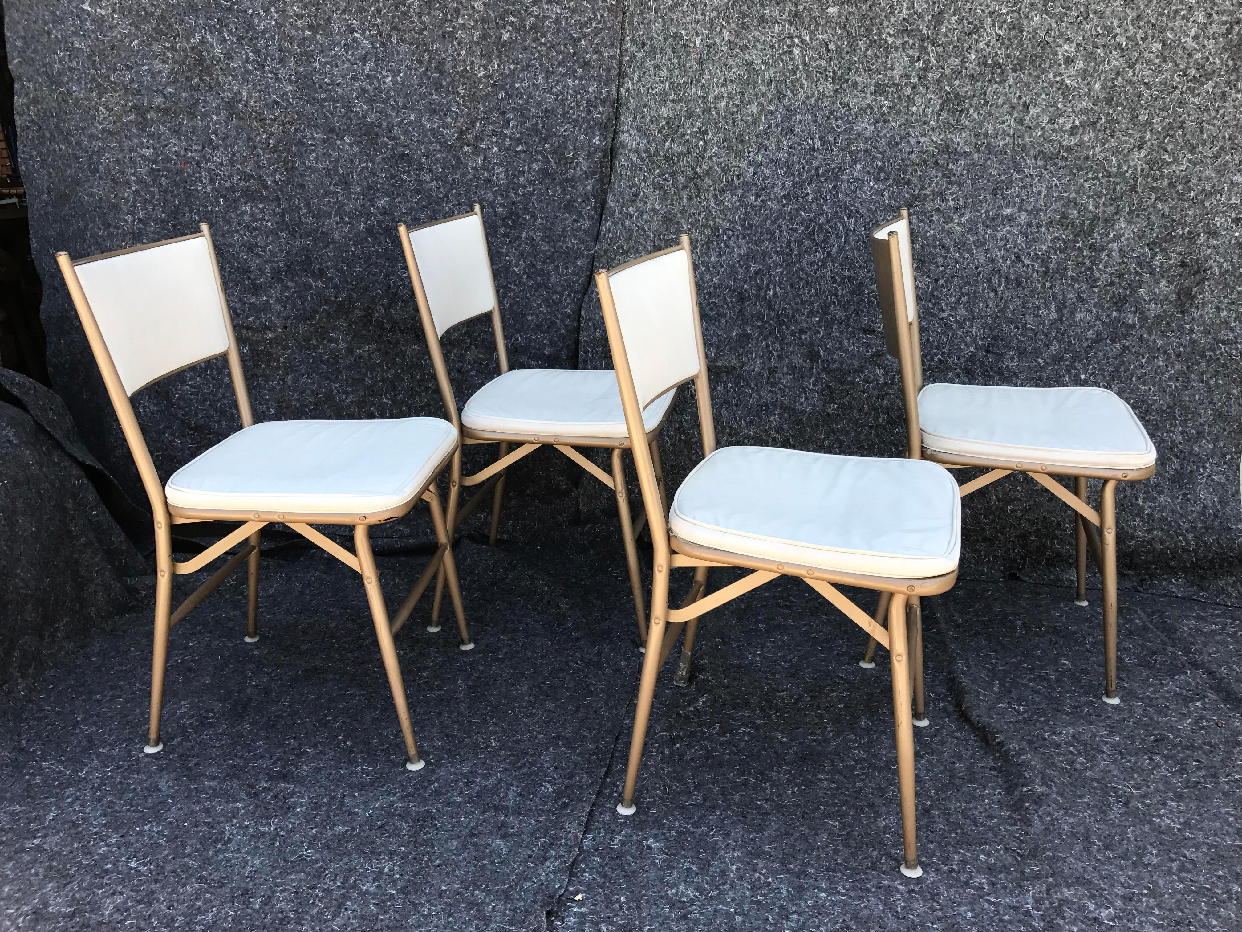 1940s Vintage Durham Celesta Folding Chairs   Set Of 4   Image 5 Of 8
