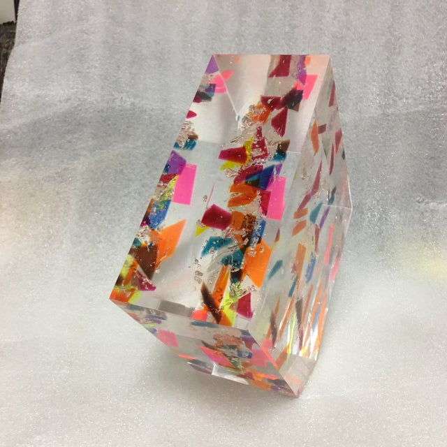 "2010s ""Confetti"" Acrylic Geometric Sculpture For Sale - Image 5 of 7"