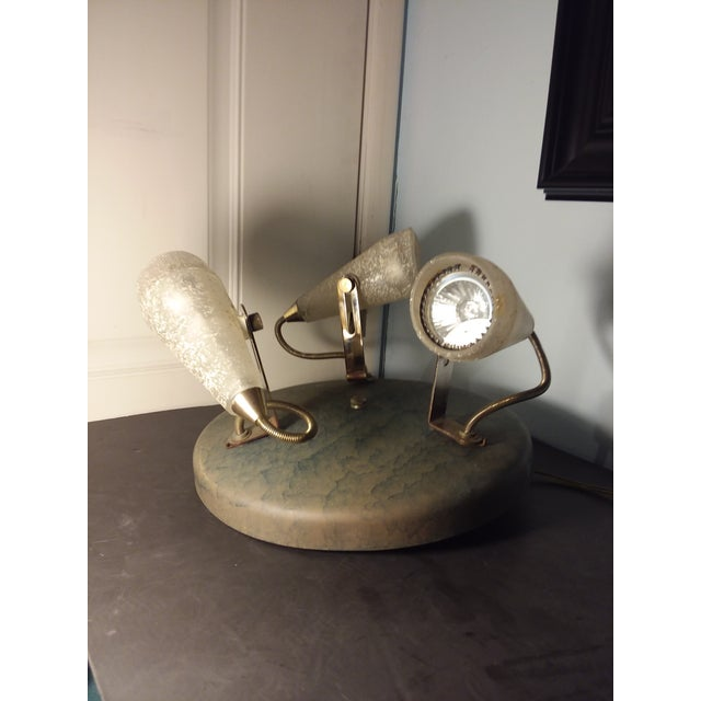 1980s Memphis Style Three Light Flush Mount For Sale - Image 5 of 12