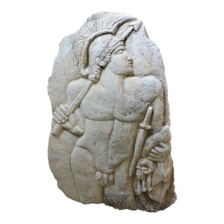 Bas Relief Carving of a Roman Soldier For Sale