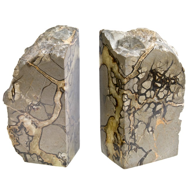 Polished Septarian Stone Bookends - A Pair - Image 4 of 5