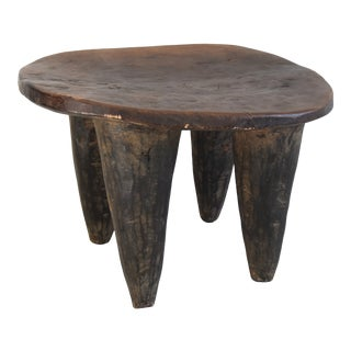 Vintage African Hand-Carved Senufo Stool Bench For Sale