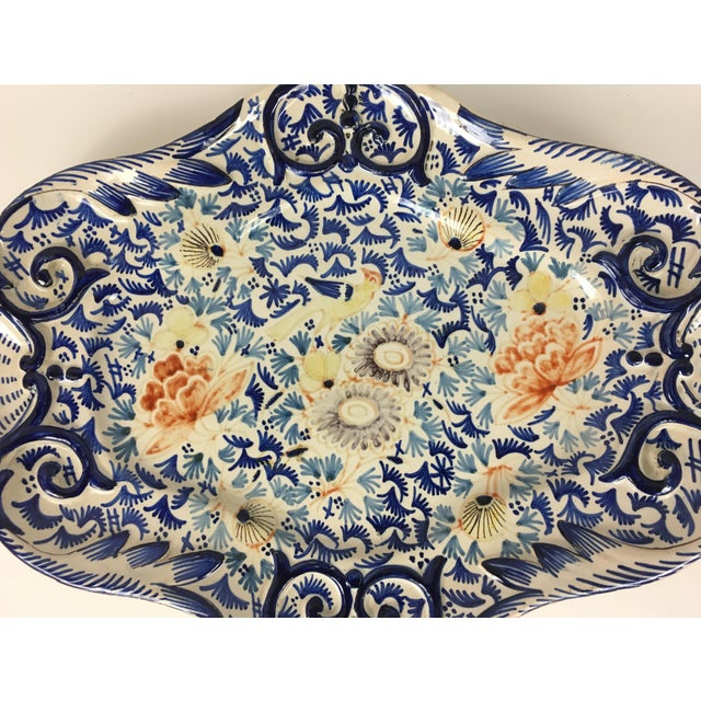 19th Century Rouen earthenware platter with beautiful decoration France, circa 1750 This traditional platter will enhance...