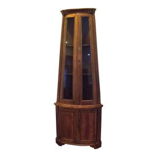 Vintage Wood Corner Cabinet