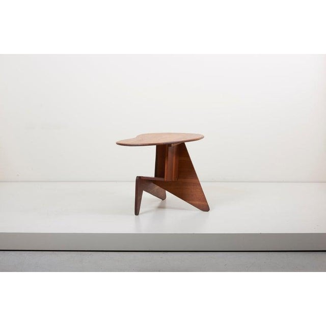 Pair of Wooden Mid-Century Modern Studio Side Tables, Us For Sale - Image 11 of 12