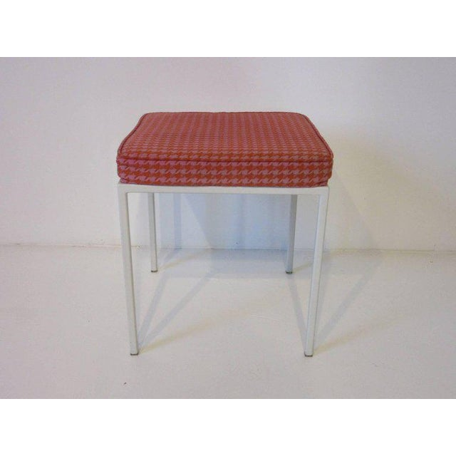 Mid-Century Modern Vista Vanity Stool by Jackson Gregory with Girard Fabric For Sale - Image 3 of 6