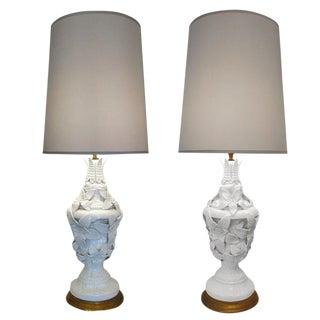 Pair of Italian Ceramic Table Lamps For Sale