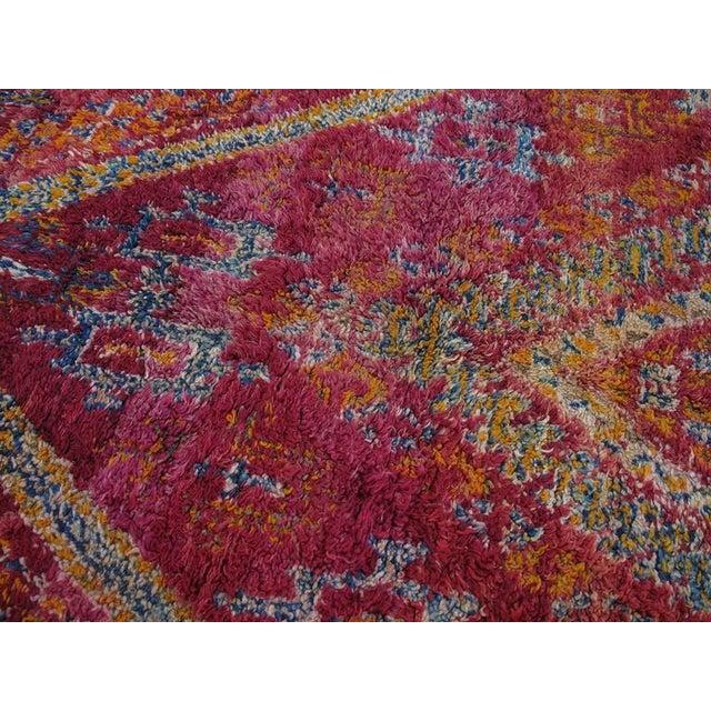 1960s Beni Mguild Moroccan Berber Carpet For Sale - Image 5 of 10