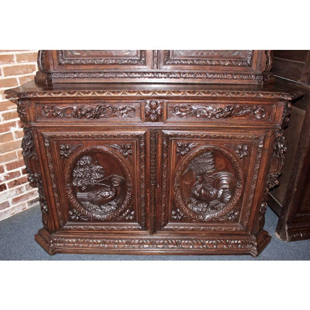 French Early 20th Century French Hunt Style Bookcase For Sale - Image 3 of 8