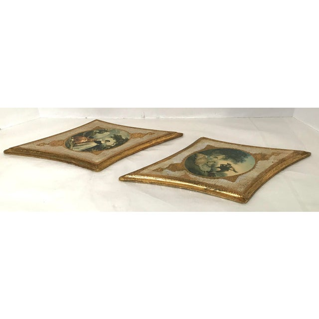 Mid 20th Century Vintage Italian Florentine Wall Hangings - A Pair For Sale - Image 5 of 9