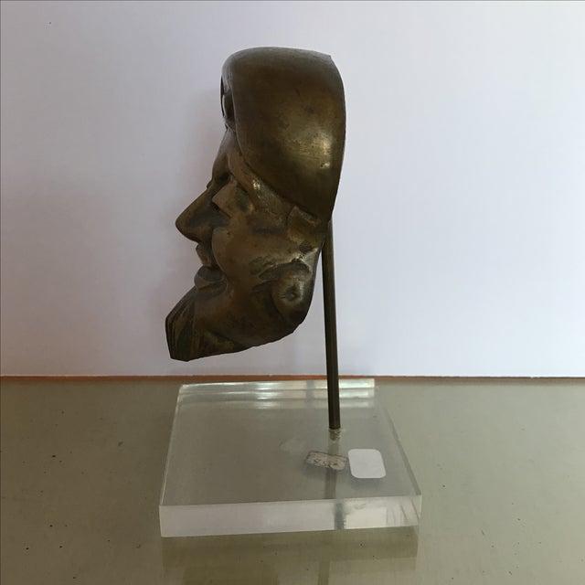Mid-Century Bronze Buddha Head For Sale - Image 5 of 6