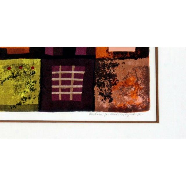 Contemporary Modern Framed Lithograph Signed Barbara Oldsheusky 181/300 For Sale In Detroit - Image 6 of 7