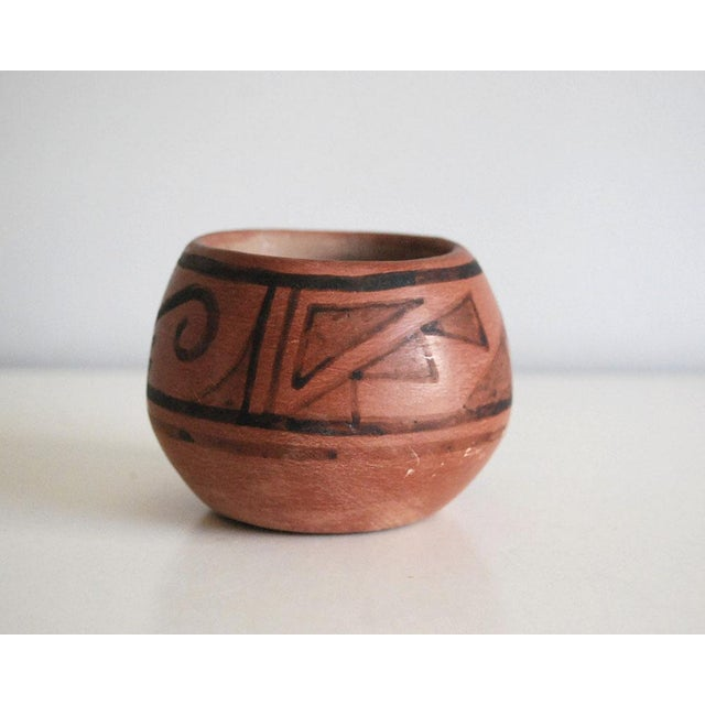 Ceramic San Ildefonso Black on Red Native American Pottery Vase For Sale - Image 7 of 7