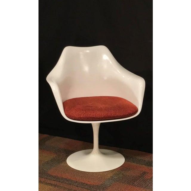 Eero Saarinen Eero Saarinen Oval Dining Table & Swivel Chairs - 5 Pieces. Mid-Century, Knoll For Sale - Image 4 of 12