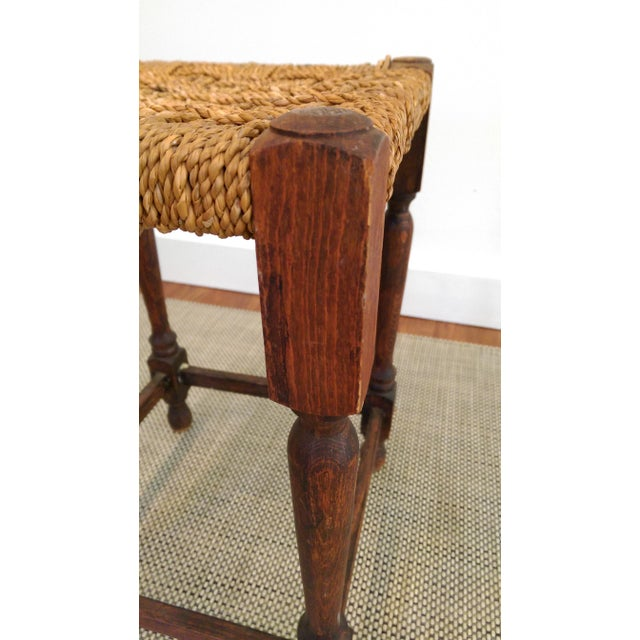 19th-C. Turned Wood & Rope Stool For Sale - Image 9 of 9