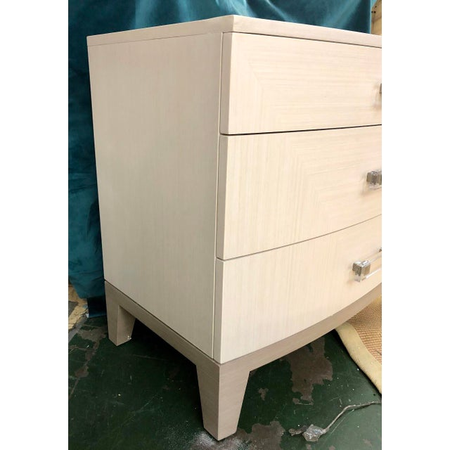 A Secret Warehouse Contemporary White Dresser Nightstand For Sale - Image 4 of 5