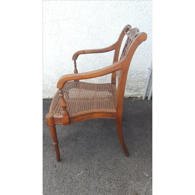 Cane Seat Armchairs - A Pair - Image 6 of 9