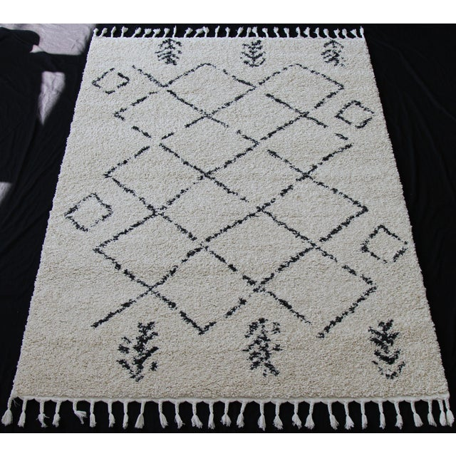 Contemporary Plush Rug with Moroccan Design - 8' x 11' - Image 2 of 9