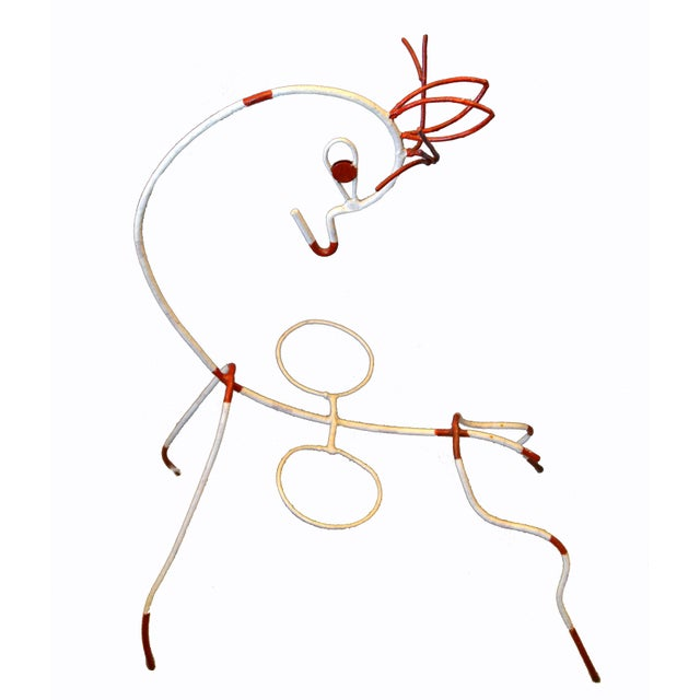 Frederick Weinberg Mid-Century Modern White & Red Iron Deer Sculptural Planter For Sale - Image 10 of 12