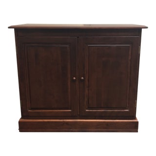 Contemporary Canadel Walnut Finish Two Door Cabinet For Sale