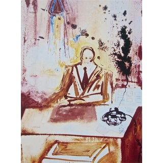 The Businessman 1989 Limited Edition Lithograph Salvador Dali 1st Edition For Sale