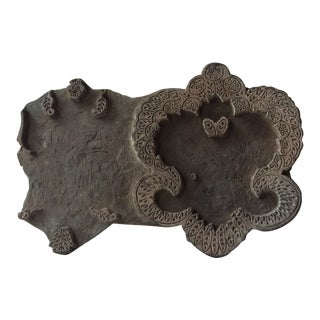 19th Century Antique Wooden Textile Printing Block For Sale