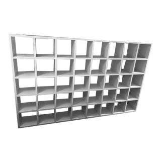 Giulio Polvara 1975 Modular Matte White Bookshelves For Sale