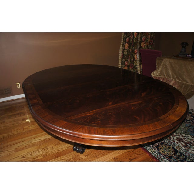 Hickory Chair Mahogany Dining Table - Image 3 of 6