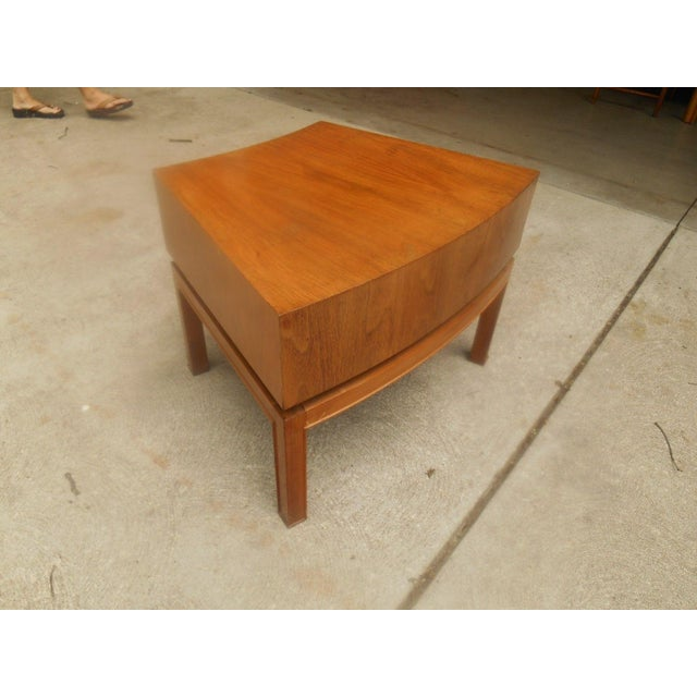 Mod Floating Butcher Block Table For Sale - Image 6 of 9