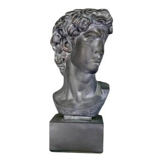 20th Century Plaster, Concrete & Resin Bust of David For Sale